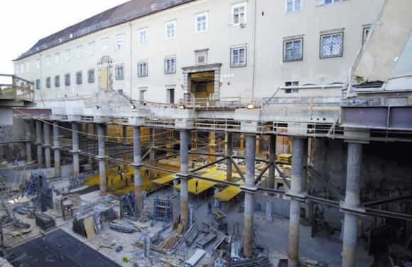 Baugrubensicherung Tiefgarage Kastner + Oehler - Graz