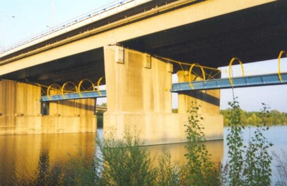 Seilsteg Praterbrücke - Wien